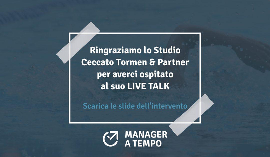 Ringraziamo lo Studio Ceccato Tormen & Partner