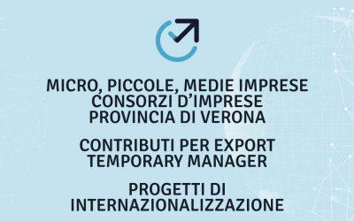 NUOVO BANDO CAMERA DI COMMERCIO VERONA: INCENTIVI PER L'INTERNAZIONALIZZAZIONE